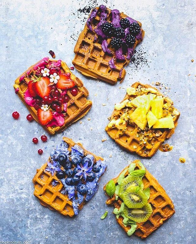 rainbow waffles by boskitchen makes 8 waffles 15 cups plain flour 1 cup - Bos Kitchen