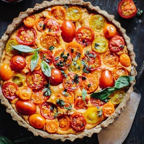 on sale b1b3f ddb07 Vegan Heirloom Tomato Tart With a Walnut Base