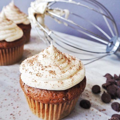Chocolate Cupcakes With A Whipped Cream Cheese Filling By